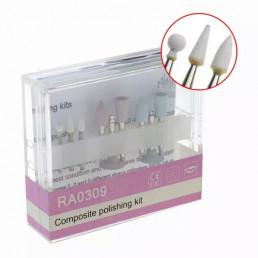 №0309 RA полир. набор для композитов,виниров (3 керамические головки +6 силиконовых)