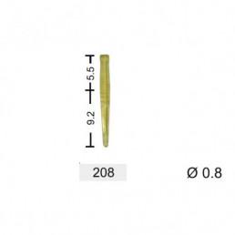 YuniPin беззольные штифты 0.8 мм #208 желтые (100 шт/уп) Kagayaki (Кагаяки)