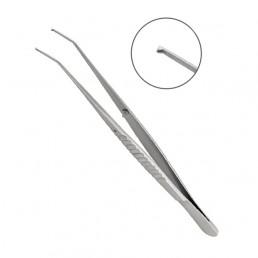 22-42 Пинцет микрохирургический изогнутый 180 мм