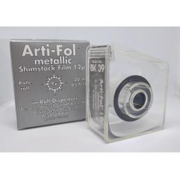 Копирка фольга BAUSH 12мик. BK39 прямая(рулон) металлик без покрытия (16мм*20м) Shimstock
