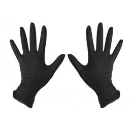 Перчатки нитрил, 100шт, ЧЕРНЫЕ DISPODENT M(7-8)