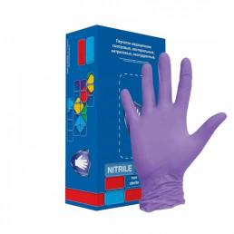Перчатки нитрил, 100шт, Фиолетовые Safe&Care S(6-7) LN307