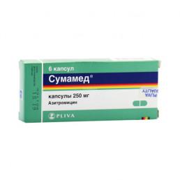Сумамед, капс 250 мг (6 шт) Pliva Hrvatska d.o.o./Тева