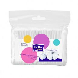 Ватные палочки п/э упаковка (100 шт) Bella (Bella Cotton)