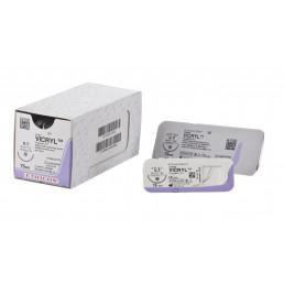 Викрил №3 W9114 (12шт) фиолет., 75см, кол, 20мм, 1/2. ETHICON