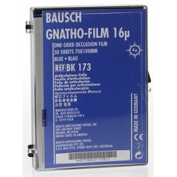 Копирка фольга BAUSH 16мик. ВК173 прямая (50 листов) синяя односторонняя (100мм*70мм)