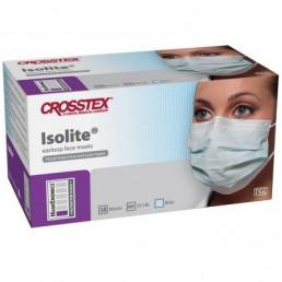 Маски на резинках Голубые (50шт)  Кросстекс Изолайт 3-х сл (гипоаллергенный) Isolite