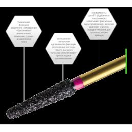 Бор для разрезания коронок из циркония PZ368-023F  (уп 5шт/блистер) PrimaDental (Zirconia)