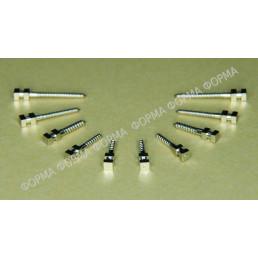 Штифты титан цилиндрические ШВТ M2 (12шт) Форма