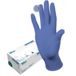 Перчатки нитрил, 200шт,  Сиреневые DERMAGRIP Ultra LS, L(8-9) Дермагрип