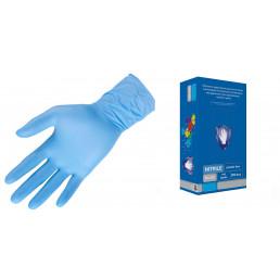 Перчатки нитрил, 200шт, Голубые Safe&Care TN301 M(7-8)
