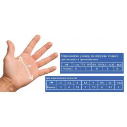 Перчатки латекс 100шт,  Dispodent, L (8-9)
