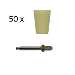 Enforce Чашки (Желтый-Мягкий) (50шт+2мандрели), Kagayaki (Кагаяки)