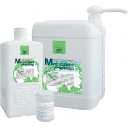 Миродез универ (1л) Концентрат. Моюще-дезинфицирующее средство широкого применения МирДезинфекции