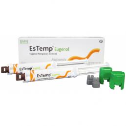 ЭсТемп (10г х 2шприца) Цемент для временной фиксации, с эвгенолом, Spident