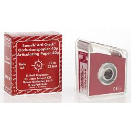 Копирка бумага BAUSH 40мик. ВК16 прямая(рулон)(диспенсер) красная (10м*22мм)