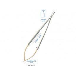 19-23B Ножницы микрох ирургические изогнутыеТС, 17,0 см, карбит-вольфрамовые вставки