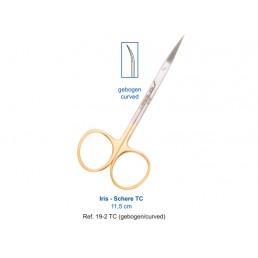 19-2TC Ножницы хирургические изогнутые Iris-Schere TC, 11,5 см, карбит-вольфрамовые вставки