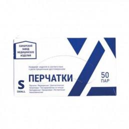 Перчатки нитрил, 100шт, Голубые СЗМИ S(6-7)