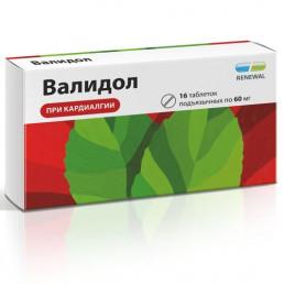 Валидол Renewal таблетки (60 мг) (16 шт.) Обновление ПФК
