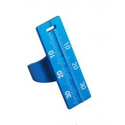 Линейка на палец эндодонтическая металлическая, синяя (1шт)
