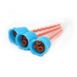 Смесители насадки синие с оранжевым сердечником (4:1 для Люксатемпа и тп) 48шт/уп DentalCombo