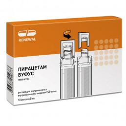 Пирацетам буфус Renewal (200мг/мл) (5 мл/шт.) ампулы (10 шт.) для улучшения работы мозга, Обновление ПФК