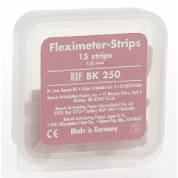 Копирка шаблоны BAUSH ВК250 гибкие (15 листов) розовые  (1мм) (Fleximeter Strips)