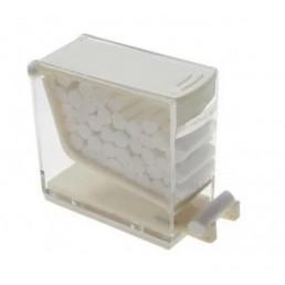 Диспенсер для ватных валиков, пластик, нажимной, Белый(White)