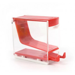 Диспенсер для ватных валиков, пластик, нажимной, Красный(Red)