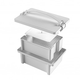 """КДХТ-01 """"ЕЛАТ"""" (5л) - герметичный контейнер для дезинфекции, хранения и перевозки  Еламед"""