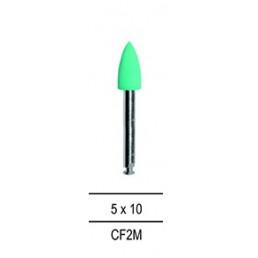 Резинка для полировки Композитов КОНУС средний, зеленый=среднезерн (1шт).
