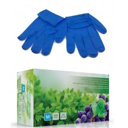 Перчатки нитрил, 200шт, Синие AN42-23  XL(9-10)