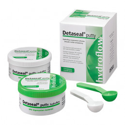 Детасил Гидрофлоу  Putty (2х250мл) База, А-силиконовый слепочный материал DETAX (Detaseal Hydroflow)