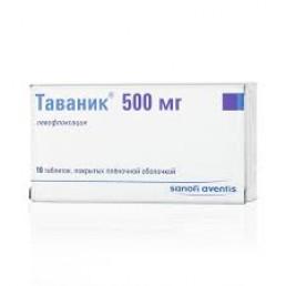 Таваник табл. покр.плен.об. 500 мг (10 шт) Санофи-Авентис