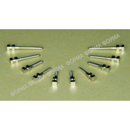 Штифты титан цилиндрические ШВТ M1 (12шт) Форма