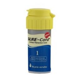Sure-Cord, нить с пропиткой, алюминий хлорид, №1 (1шт) SURE-ENDO (СуреКорд)