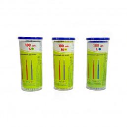 Аппликаторы ДС браш, средние-желтые (М=1,5мм) 100шт  длинные DentalCombo