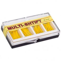 Мульти Штифт №2 Желтые (1,2мм х23мм) (80шт) -беззольные штифты Рудент
