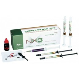 NX3 набор (2шпр цемента+2шпр пробного геля) Светоотверждаемый цемент для фиксации виниров KERR