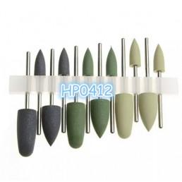 №0412 HP полир. набор для протезов (резинки) (уп 12шт)
