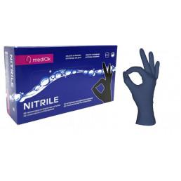 Перчатки нитрил, 100шт, Черничные MediOk S(6-7)