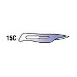 Лезвия д. скальп стерильные (угл. сталь) №15C (уп/100шт)