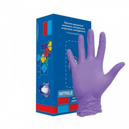 Перчатки нитрил, 100шт, Фиолетовые Safe&Care L(8-9) LN307