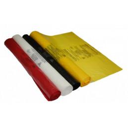 Пакет для медотходов класс Б(Желтый) 120л (700*1100 мм) 15мкн (уп 100шт +стяжки) МедКом