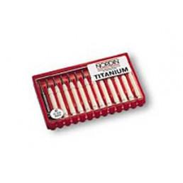 Штифты титановые парапульпарные 0,6мм (12 шт., 1 развертка), Nordin