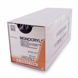 Монокрил №6 W3224 (12шт) фиолет., 45см, кол 13мм,1/2,  Ethicon