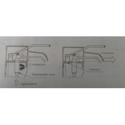 Локтевой дозатор, настенный (SM-2 universal)  - для жидкого мыла и кожных антисептиков (schuelke)