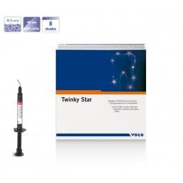 Твинки Стар Флоу Розовый (1шпр*2гр) Цветной жидкотекучий пломбир. материал для детей VOCO (Twinky Star Flow)