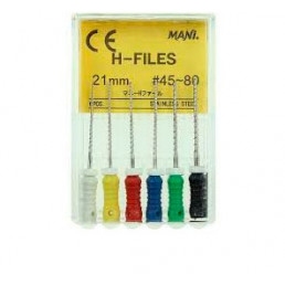 H-файл 21 мм ассорти №45-80 (6 шт/уп) MANI